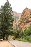 Colorado. A scenic route up a mountain in Colorado royalty free stock photo