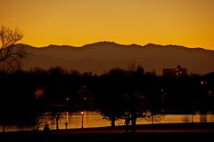 Colorado-Schattenbild stockbilder