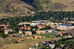 Colorado School of Mines campus on a sunny day royalty free stock photos