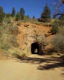 Colorado-Schotterweg-Tunnel lizenzfreie stockfotografie