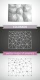 Colorado set of grey and silver mosaic 3d polygonal maps Royalty Free Stock Photos