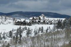 Colorado Ski Lodge bij Beaver Creek royalty-vrije stock afbeelding