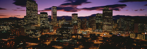 Colorado skyline at dusk Royalty Free Stock Photography