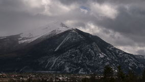 Colorado snow capped mountain timelapse. Video of colorado snow capped mountain timelapse stock video