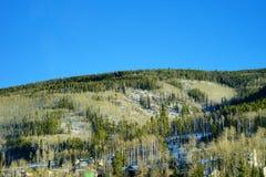 Colorado snow mountain. Colorado winter landscape: snow mountain and the highway Royalty Free Stock Photography
