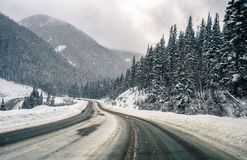 Colorado Snowy Mountain Road Royalty Free Stock Image