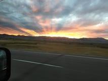 Colorado solnedgång royaltyfri foto