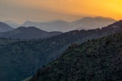 Colorado solnedgång Fotografering för Bildbyråer