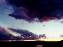 Colorado solnedg?ng arkivfoton