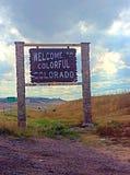 colorado som ska välkomnas Arkivfoto