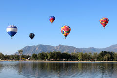 Colorado Springs Balloon Classic. A beautiful hot air balloon at the Colorado Springs Balloon Classic, an annual event and Colorado's largest ballooning event Royalty Free Stock Images