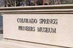 Colorado Springs bana väg för museet arkivfoto