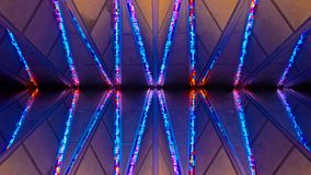 US Air Force Academy Chapel stained glass. COLORADO SPRINGS, CO - DECEMBER 13, 2015: United States Air Force Academy Cadet Chapel, stained glass Royalty Free Stock Image