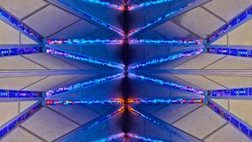US Air Force Academy Chapel stained glass. COLORADO SPRINGS, CO - DECEMBER 13, 2015: United States Air Force Academy Cadet Chapel, stained glass Royalty Free Stock Photo