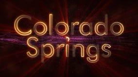 Colorado Springs - Glanzende het van een lus voorzien de tekstanimatie van de stadsnaam vector illustratie