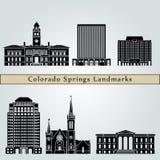 Colorado Springs Landmarks Royalty Free Stock Image