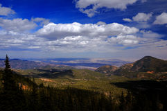 Colorado Springs from Pike's Peak Stock Photo