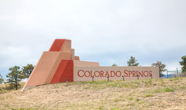 Colorado Springs pobocza znak Zdjęcia Royalty Free
