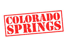 COLORADO SPRINGS. Rubber Stamp over a white background Stock Images