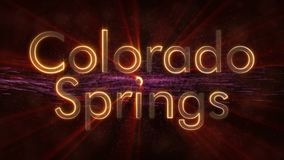 Colorado Springs - Shiny looping city name text animation