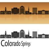 Colorado Springs V2 skyline in orange Royalty Free Stock Image
