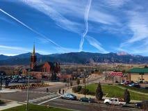 Colorado Springs View Towards Rocky Mountains Royalty Free Stock Photo