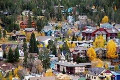 Colorado stad av Breckenridge Arkivfoto