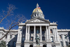 Colorado State Capitol. A close view of the front of the Colorado State Capitol royalty free stock photo