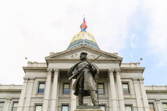 Colorado State Capitol and Civil War Monument royalty free stock image