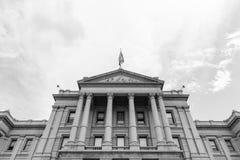 Colorado State Capitol Facade in Monochrome stock photos