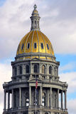 Colorado State Capitol Gold Dome in Denver Royalty Free Stock Images