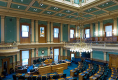 Colorado State Capitol House Chamber. Interior of house chambers at colorado state capitol in denver stock photography
