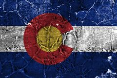 Colorado state grunge flag, United States of America.  stock photos