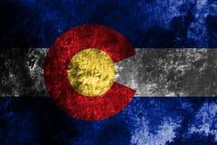 Colorado state grunge flag, United States of America vector illustration