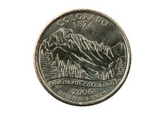 Colorado state quarter Royalty Free Stock Photography