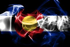Colorado state smoke flag, United States Of America stock illustration