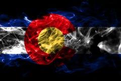 Colorado state smoke flag, United States Of America vector illustration