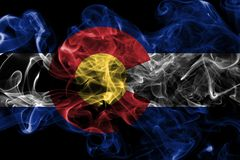 Colorado state smoke flag, United States Of America.  stock photography