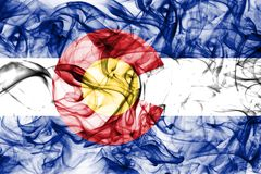 Colorado state smoke flag, United States Of America. On a white background royalty free stock photos