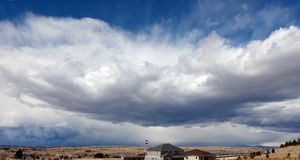 Colorado Storm Clouds. Storm clouds moving over the mountains in Colorado Royalty Free Stock Image