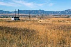 Colorado-Straße zu Boulder-Stadt Stockfotografie
