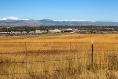 Colorado-Straße zu Boulder-Stadt Stockfotos