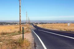 Colorado-Straße zu Boulder-Stadt Lizenzfreie Stockfotos
