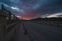 Colorado Street Bridge in Pasadena. Royalty Free Stock Image