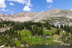 Colorado Summer Mountain Landscape Royalty Free Stock Image