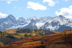 Colorado Tetons durante o verão fotografia de stock