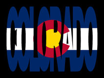 Colorado text with flag royalty free illustration