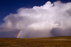 Colorado Thunderstorm. A summer thunderstorm passes though the eastern Colorado plains Royalty Free Stock Photo