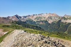 The Colorado Trail in the San Juan Mountains. Spectacular alpine scenery along the Colorado Trail at Indian Trail Ridge in the San Juan Mountains Stock Photo