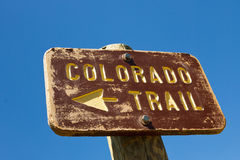 Colorado Trail Sign Stock Image